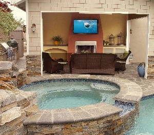 Backyard Music System planning your outdoor audio and video system | hometronics lifestyles